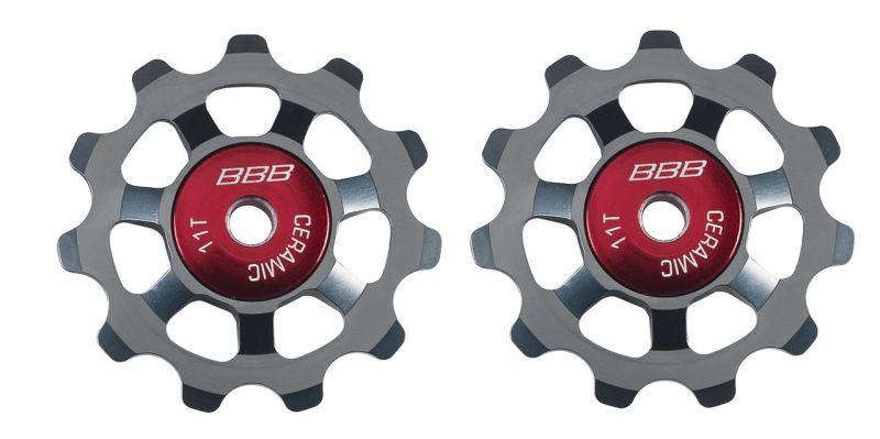 Galets de dérailleur BBB AluBoys 11T rlts céramique - BDP-22