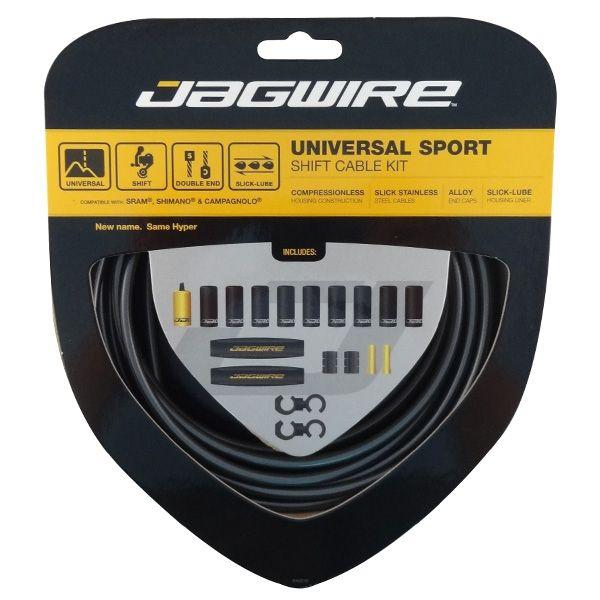 Kit câble et gaine de dérailleur Jagwire Universal Sport - Gris Hi-Tech