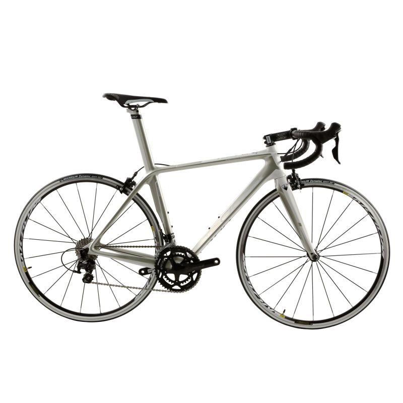 Vélo de route CKT by Virenque 799 carbone Shimano 105 Blanc / Argent (Taille M / 54)