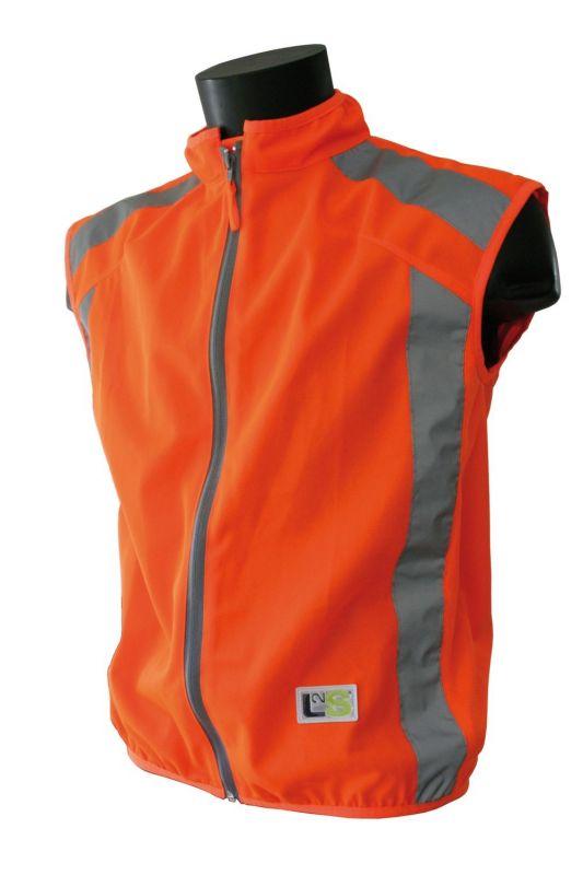 Gilet de sécurité sport L2S Visioplus Orange fluorescent réfléchissant