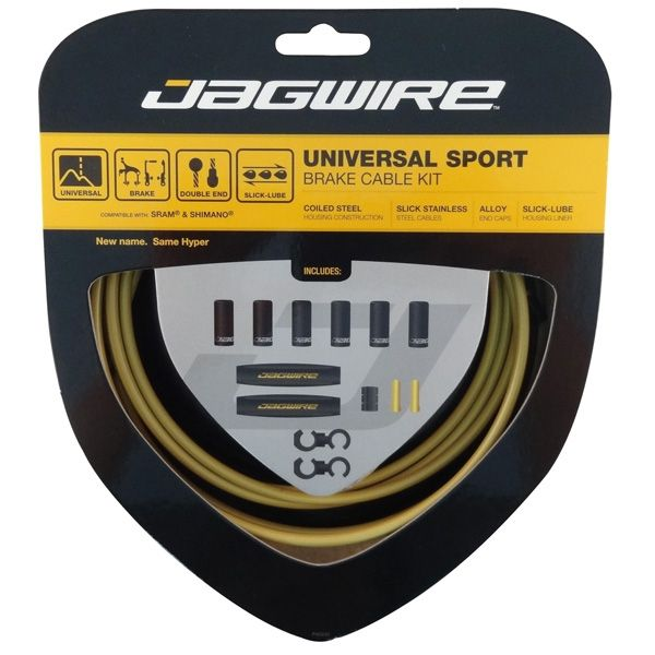 Kit câble et gaine de frein Jagwire Universal Sport - Or UCK414