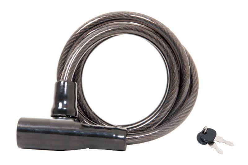 Antivol Massi Scorpion à clé 6 mm x 120 cm Noir