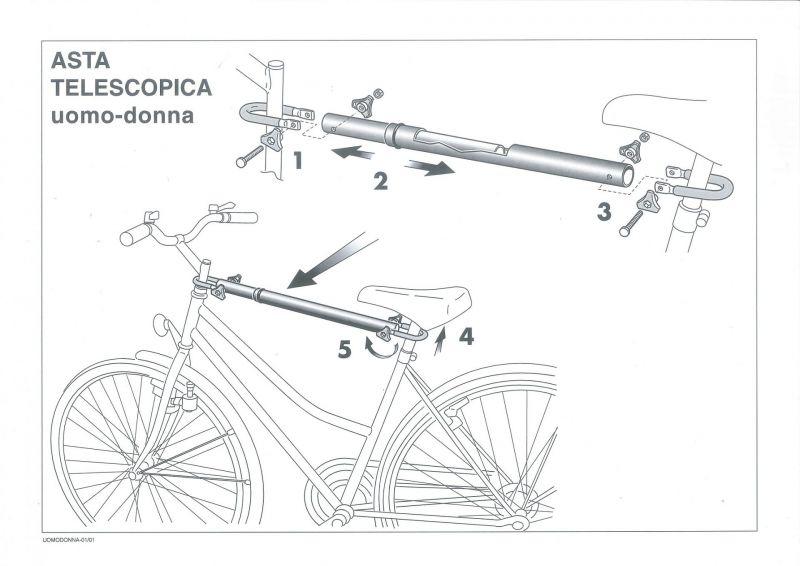 Adaptateur Peruzzo pour cadres spécifiques sur porte-vélo - 1