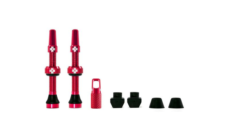 Kit de valves tubeless Muc-Off 44 mm Rouge (Paire)