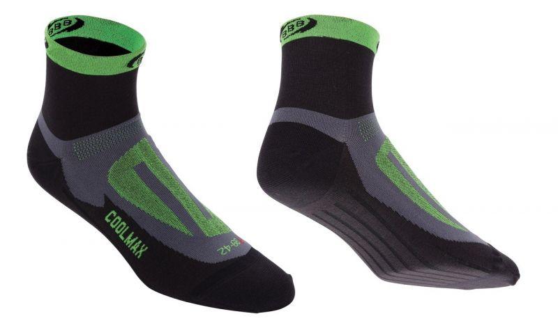 Chaussettes BBB ErgoFeet Coolmax Active (noir/vert) - BSO-04