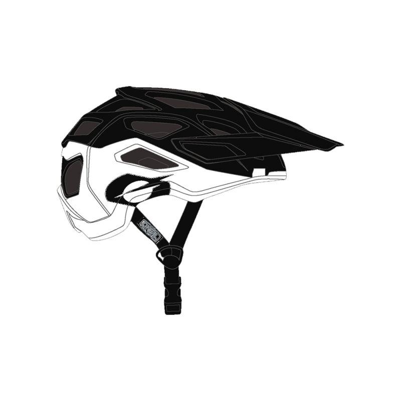 Casque VTT O'Neal Pike 2.0 Helmet Solid Noir/Blanc