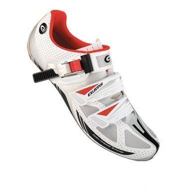 Chaussures route Exustar E-SR473 Blanc/Rouge