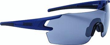 Lunettes BBB FullView Bleu foncé mat + Verre PC Smoke Flash Mirror - BSG-53
