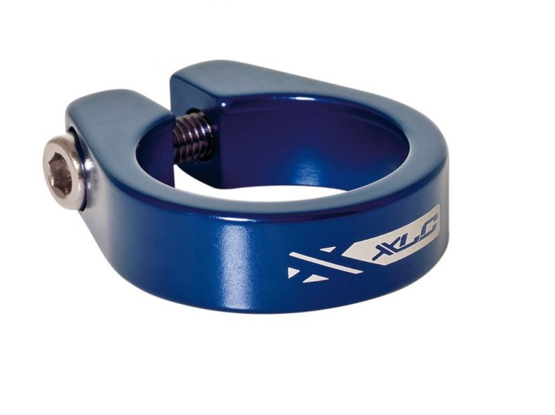 Collier de tige de selle XLC PC-B05 Alu 31,6 mm Bleu