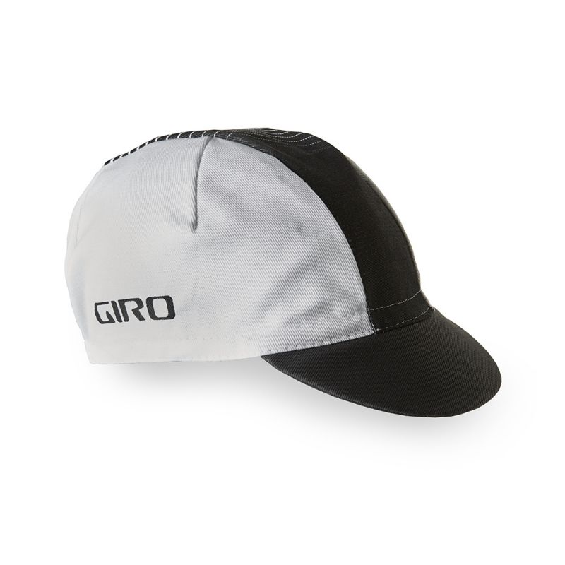 casquette giro classic cotton cap blanc noir sur ultime bike. Black Bedroom Furniture Sets. Home Design Ideas