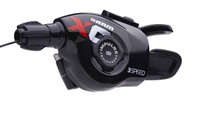 Trigger avant SRAM X0 3V Gauche Noir/Rouge