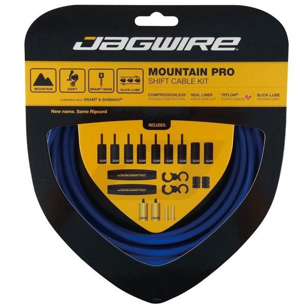 Kit complet câbles et gaines dérailleur Jagwire Mountain Pro - Bleu SID MCK217