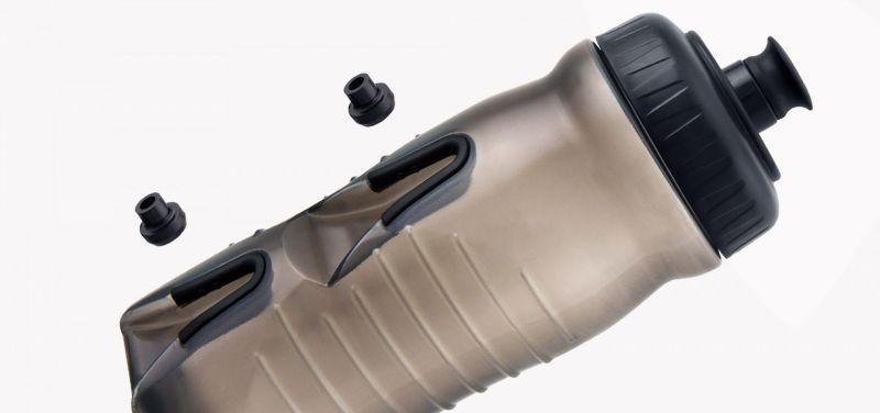 Bidon et supports Fabric 600 ml Transparent/Vert - 1