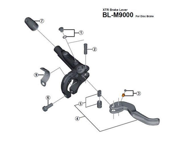 Réducteur frein Shimano I-spec 2 levier BL-M9000/8000/7000