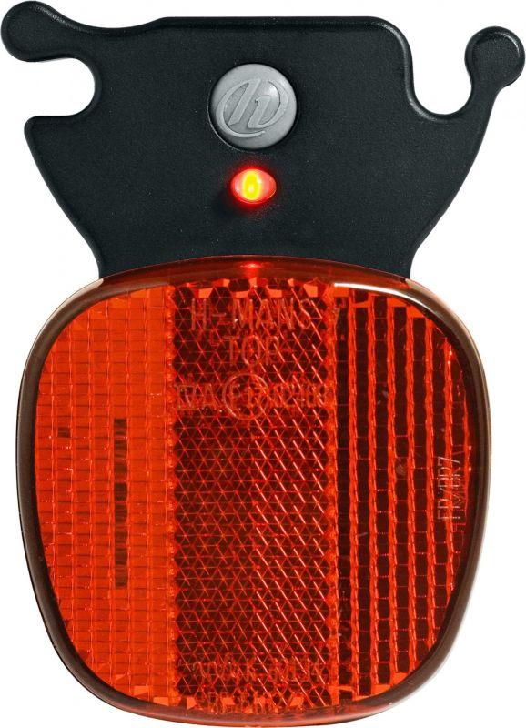 Réflecteur arrière Herrmans H-Rail + 1 LED fixation sur rail de selle - 1