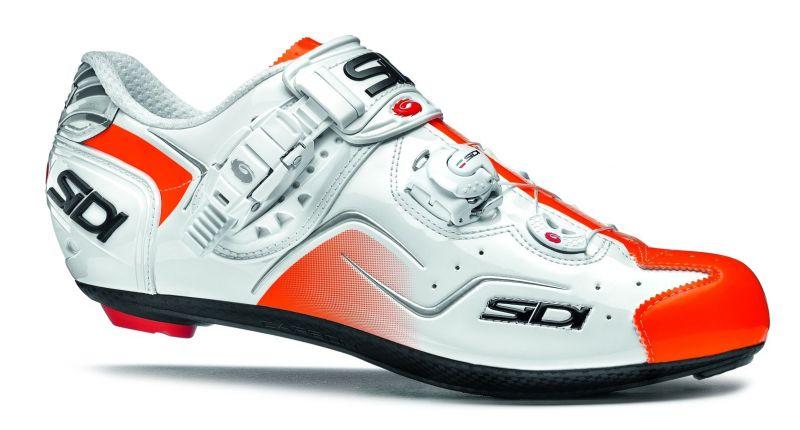 Chaussures Sidi KAOS Blanc/Orange verni