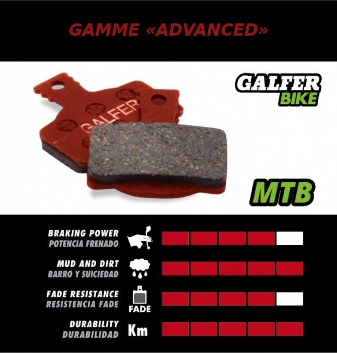 Plaquettes de frein Galfer Shimano Ultegra Semi-métallique Advanced - 1