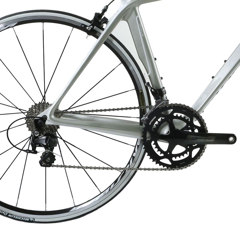 Vélo de route CKT by Virenque 799 carbone Shimano 105 Blanc / Argent (Taille M / 54) - 2