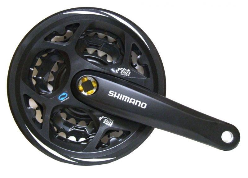 Pédalier Shimano Altus FC-M 311 42/32/22 carré 170 mm noir