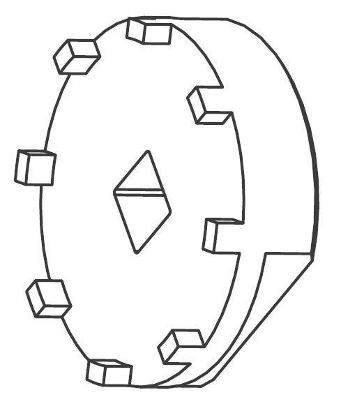 Outil pour bague étoile Cannondale Hollowgram Si KT012/ - 1
