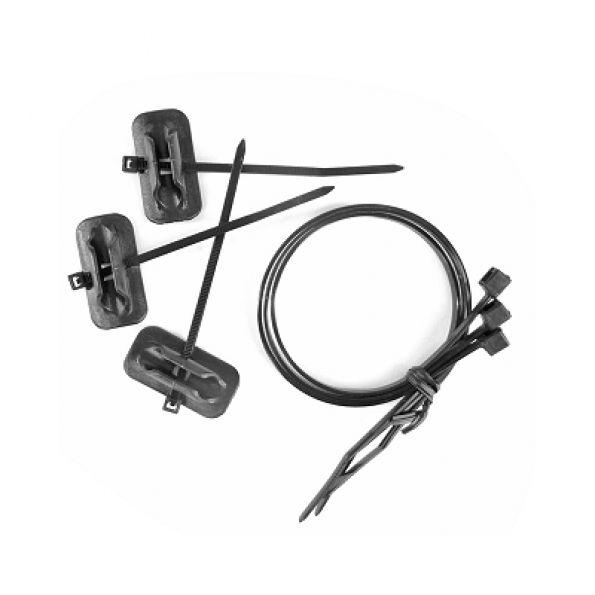 Guide-câble / durite Jagwire autocollant (x3) Noir