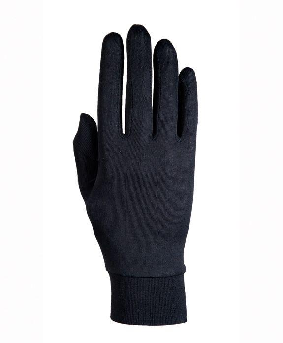Sous-gants Roeckl Silk soie Noir