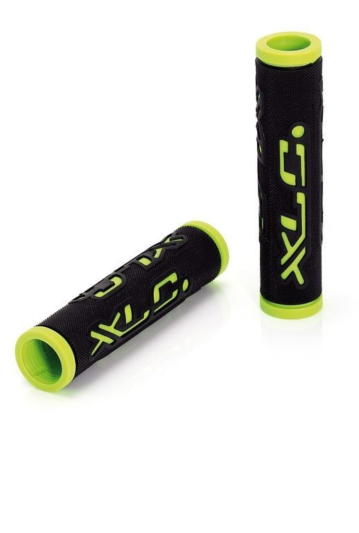 Poignées XLC Dual Colour GR-G07 125 mm Noir/Vert