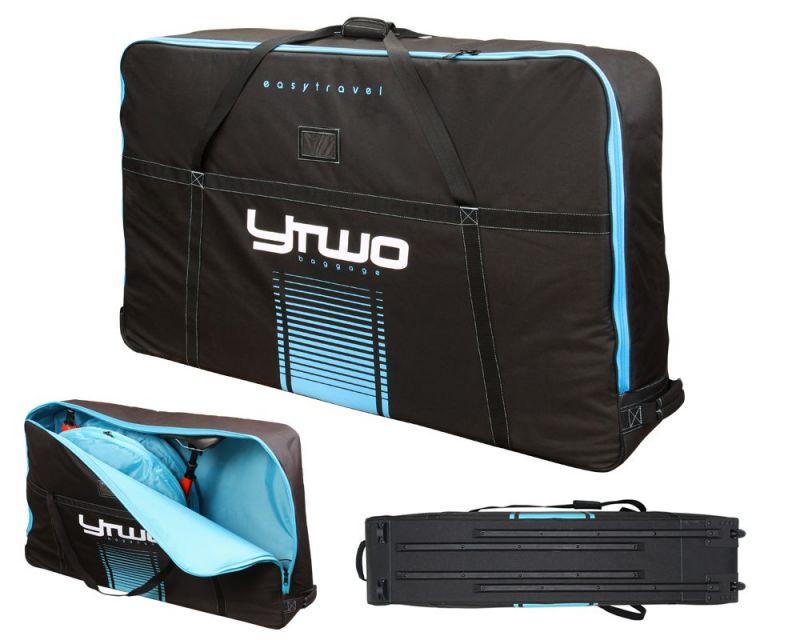 Housse de transport vélo Ytwo EasyTravel V2 Noir/Bleu
