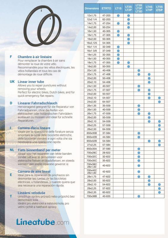 Chambre à air linéaire Lineatube 20 x 1.10/1.75 Valve Schrader alu - 3