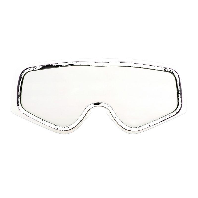Écran O'Neal Double Lens pour masque B-Zero Goggle Clear Antifog-Antiscratch, Tear Off Pins
