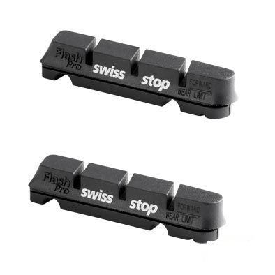 Patins SwissStop Flash Pro Tendre Aluminium Shimano/Sram Noir (Jeu de 4)