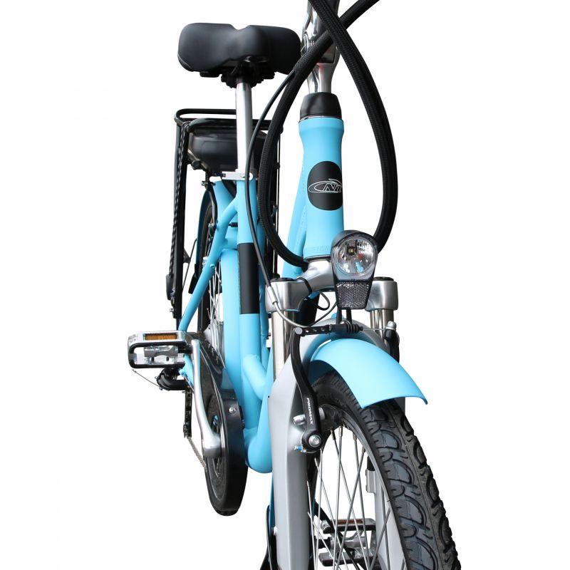 """Vélo électrique ville Newton Alu 26"""" Mixte 6V 36V/468 Wh Bleu - 3"""