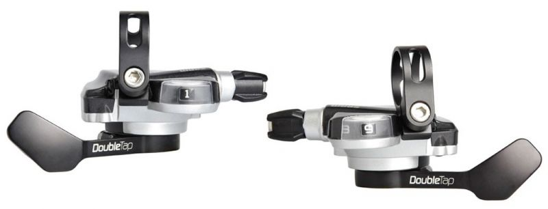 Manettes SRAM Double Tap pour cintre plat 2x10V Argent/Noir
