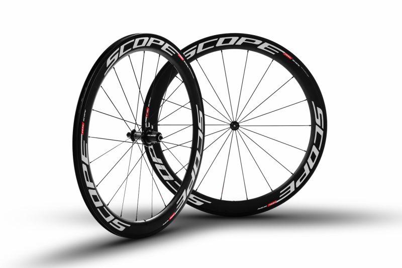 Roues carbone Scope R5c 55 mm pneu Shimano 11V Blanc