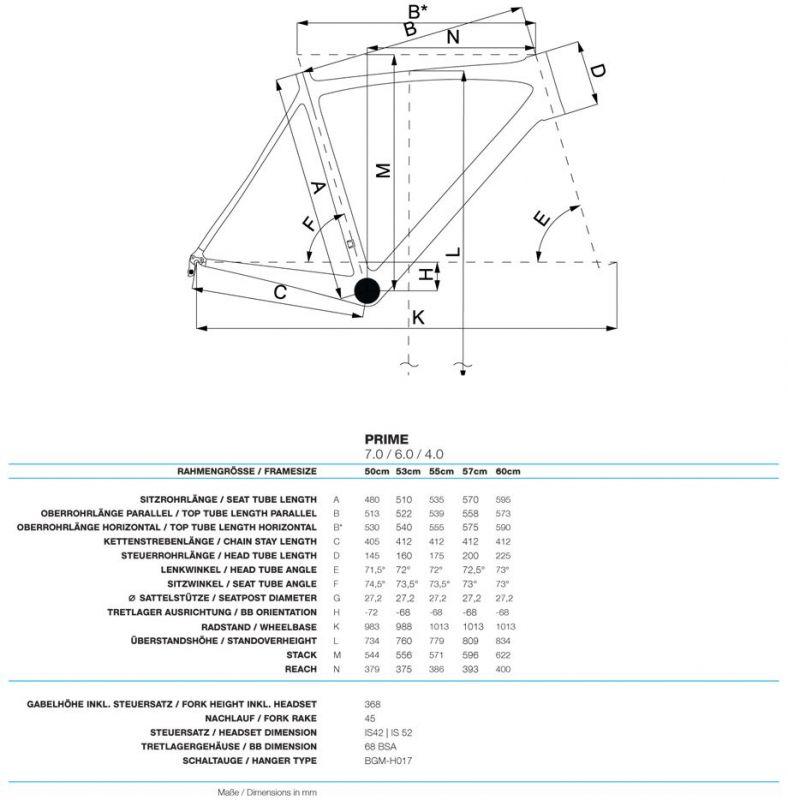Vélo de route Bergamont Prime 4.0 Blanc/Bleu - 1