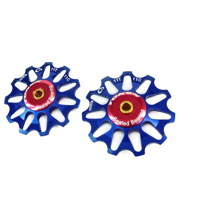 Galets de dérailleur Token 11 dents comp. Shimano/Campagnolo/SRAM XO Bleu
