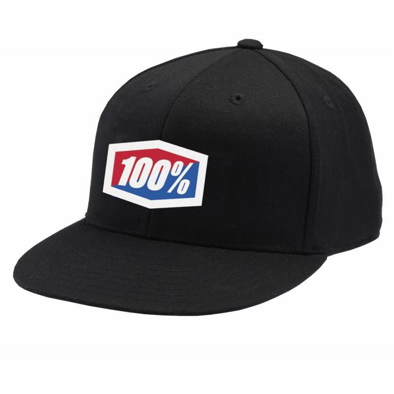 Casquette 100% Icon FlexFit (Noir)
