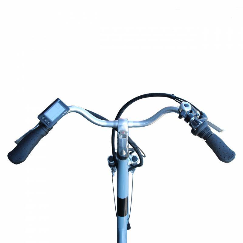 """Vélo électrique ville Newton Alu 26"""" Mixte 6V 36V/468 Wh Gris titane - 4"""