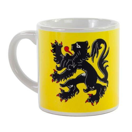 Tasse à café Lion des Flandres Jaune - 1