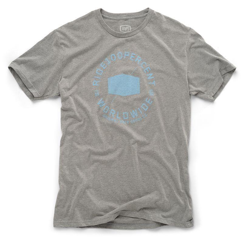 Tee-shirt 100% Worldwide Heather gris/bleu