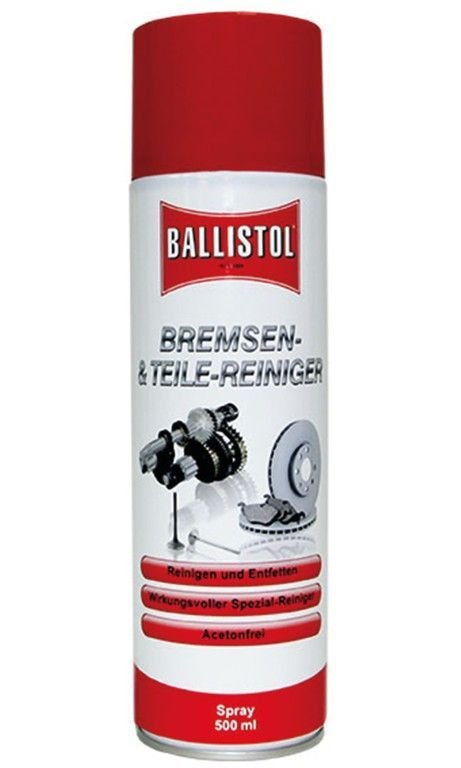 Nettoyant dégraissant Ballistol freins & pièces Spray 500 ml