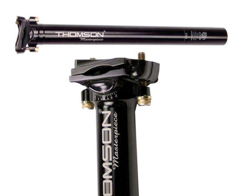 Tige de selle Thomson Masterpiece noire 30,9 mm x 350 mm Recul 16 mm