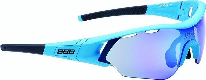 Lunettes BBB Summit Bleu mat, logo bleu, verres bleus 5012 - BSG-50
