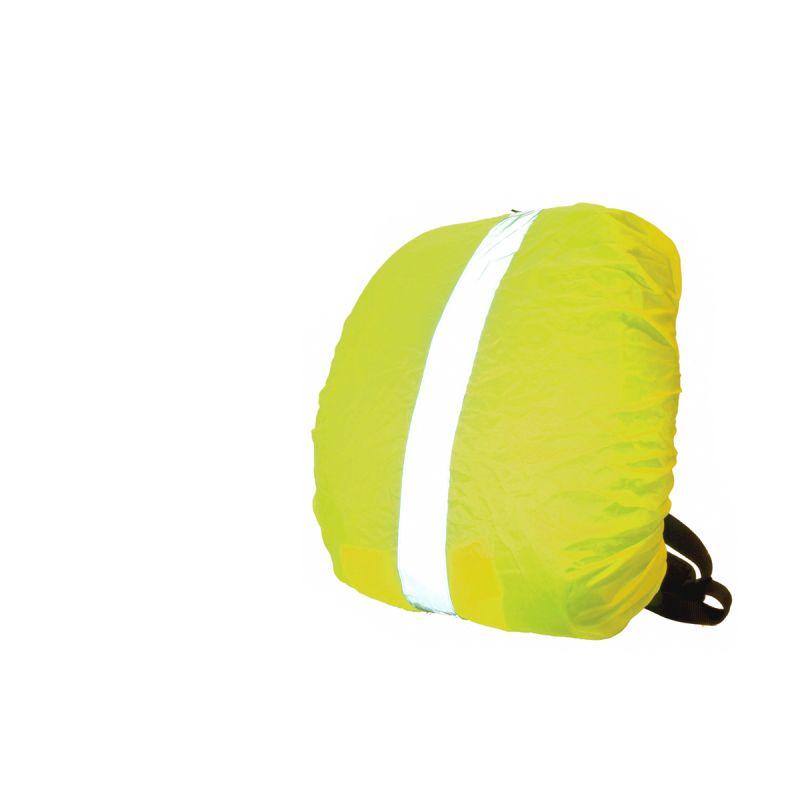 Housse Wowow pour sac à dos 35 L avec bandes réfléchissantes Jaune
