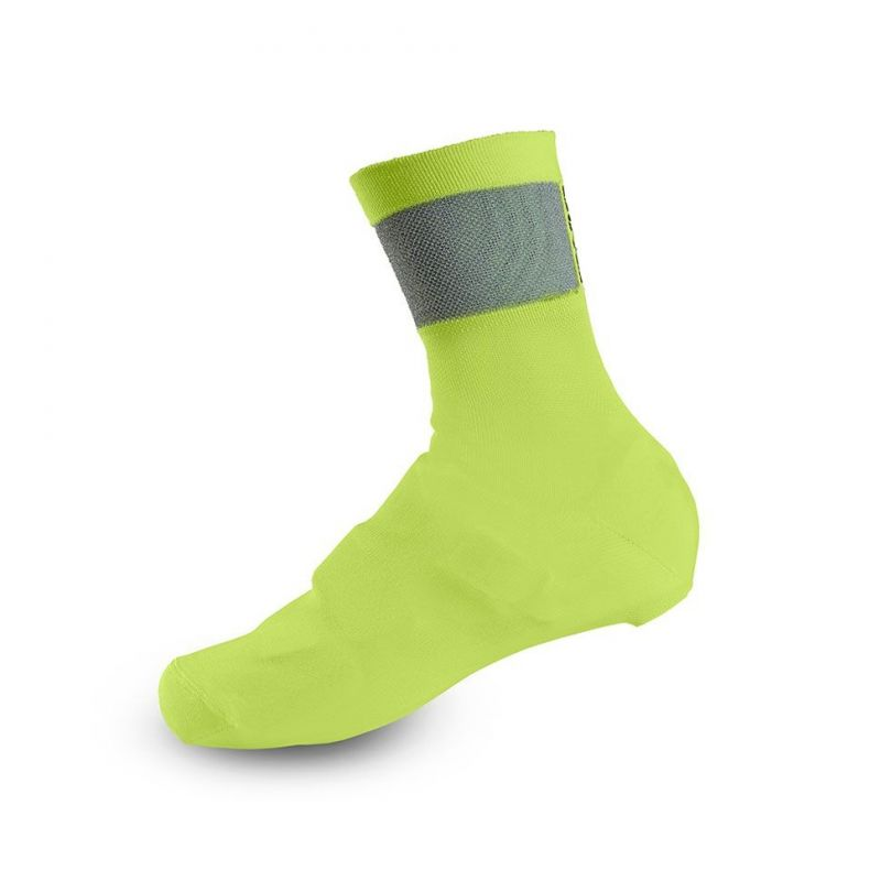 Couvre-chaussures Giro KNIT SHOE COVERS Jaune fluo/Noir