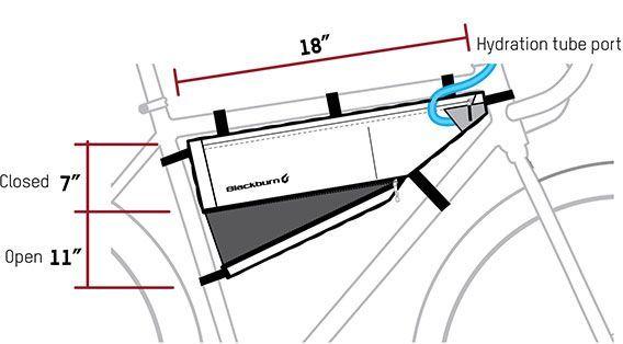 Sacoche de cadre bikepacking Blackburn Outpost M - 4,3/5,8 L Noir - 2