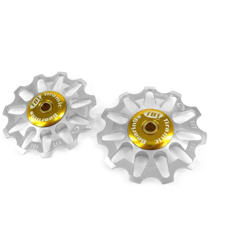 Galets de dérailleur Token 11 dents comp. Shimano/Campagnolo/SRAM XO roulements céramique Argent