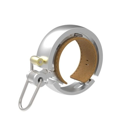 Sonnette Knog Oi Luxe Large 23,8-31,8 mm Argent Poli
