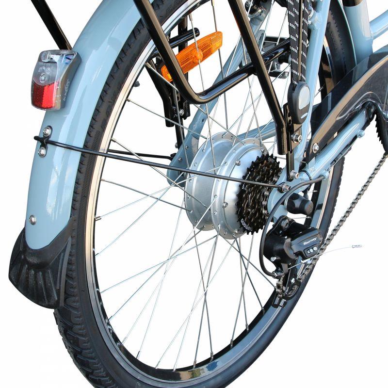 """Vélo électrique ville Newton Alu 26"""" Mixte 6V 36V/468 Wh Gris titane - 6"""