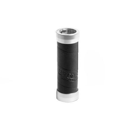 Poignées en cuir Brooks Slender 100/130 mm Noir